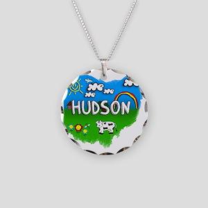 Hudson Necklace Circle Charm