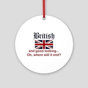 Good Looking British Ornament w/ribbon