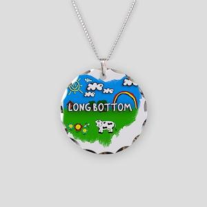 Long Bottom Necklace Circle Charm