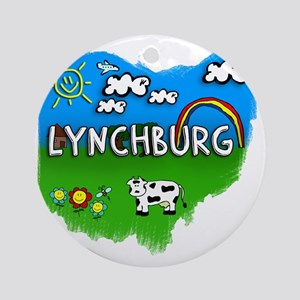 Lynchburg Round Ornament