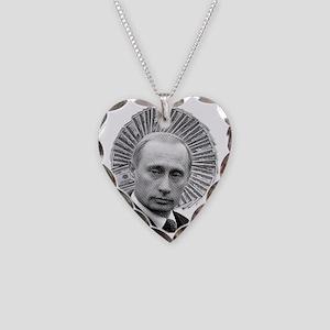 President Putin Necklace Heart Charm