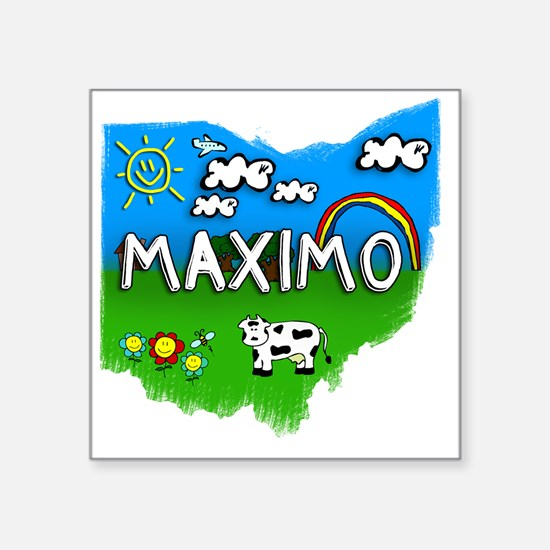 "Maximo Square Sticker 3"" x 3"""