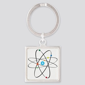 atom Square Keychain