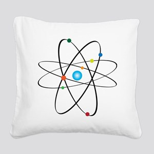 atom Square Canvas Pillow
