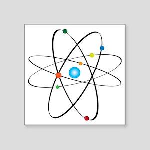 "atom Square Sticker 3"" x 3"""