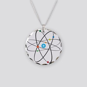 atom Necklace Circle Charm