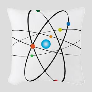 atom Woven Throw Pillow
