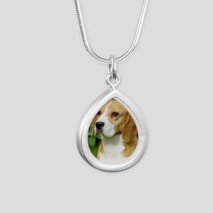 Beagle 9K34D-17 Silver Teardrop Necklace