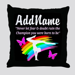 INSPIRE GYMNAST Throw Pillow