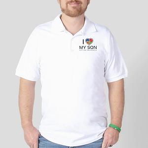 I Love My Son Golf Shirt