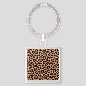 Leopardpillow Square Keychain
