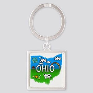Ohio Square Keychain