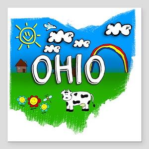 """Ohio Square Car Magnet 3"""" x 3"""""""