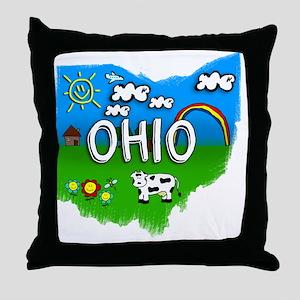 Ohio Throw Pillow