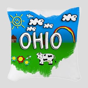 Ohio Woven Throw Pillow