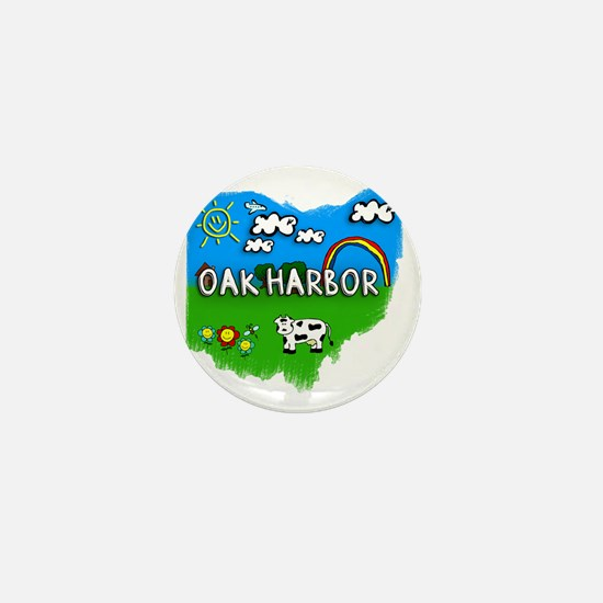 Oak Harbor Mini Button