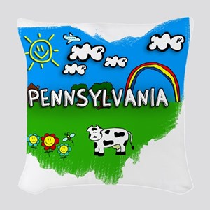 Pennsylvania Woven Throw Pillow
