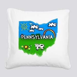 Pennsylvania Square Canvas Pillow