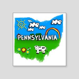 """Pennsylvania Square Sticker 3"""" x 3"""""""