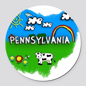 Pennsylvania Round Car Magnet