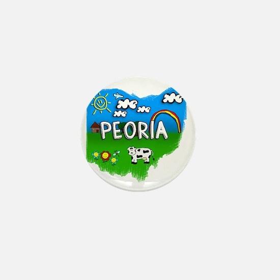 Peoria Mini Button