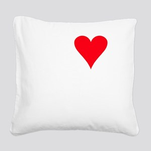 iheartemus_black Square Canvas Pillow