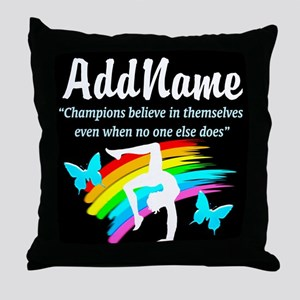 MOTIVATE GYMNAST Throw Pillow