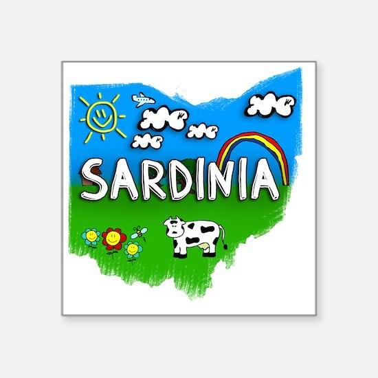 """Sardinia Square Sticker 3"""" x 3"""""""