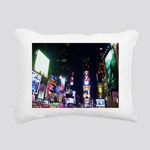 Time Square Rectangular Canvas Pillow