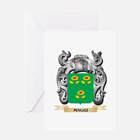 Maggi Coat of Arms - Family Crest Greeting Cards