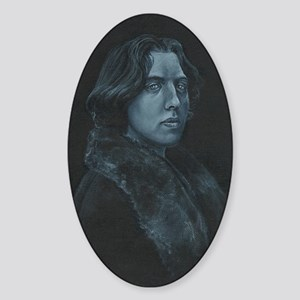 Oscar Wilde Sticker (Oval)