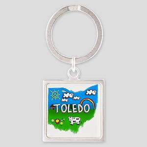 Toledo Square Keychain