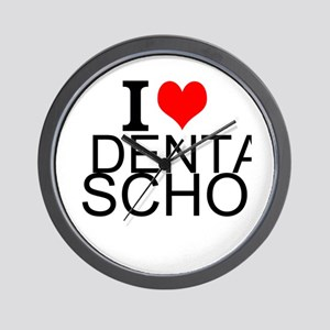 I Love Dental School Wall Clock