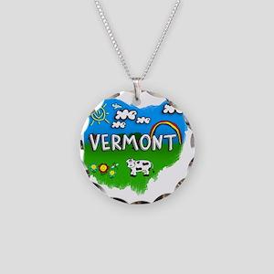 Vermont Necklace Circle Charm