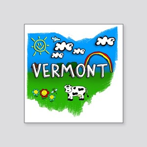 "Vermont Square Sticker 3"" x 3"""