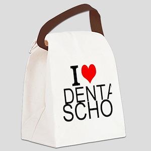 I Love Dental School Canvas Lunch Bag