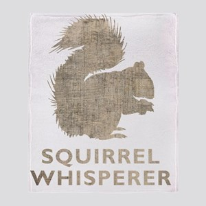 squirrelwhisperer1Bk Throw Blanket