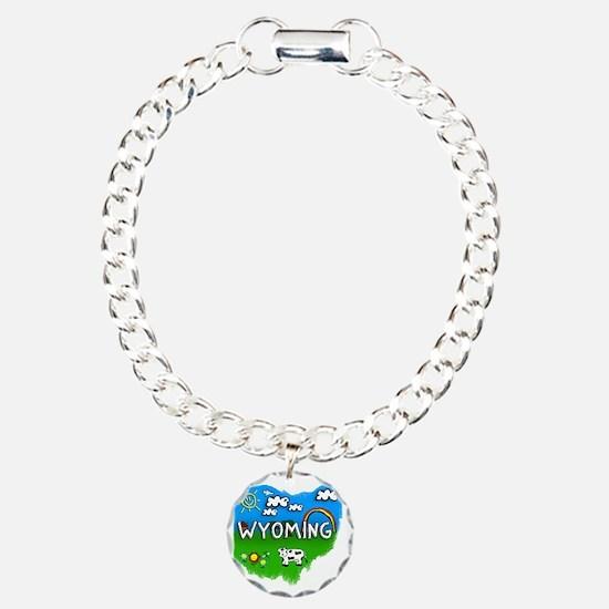 Wyoming Charm Bracelet, One Charm