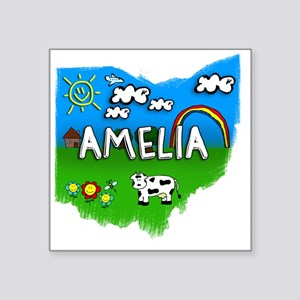 "Amelia Square Sticker 3"" x 3"""