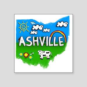 """Ashville Square Sticker 3"""" x 3"""""""