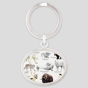 Animals of the Polar Regions Oval Keychain