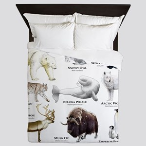 Animals of the Polar Regions Queen Duvet