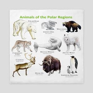 Animals of the Polar Regions Queen Duvet