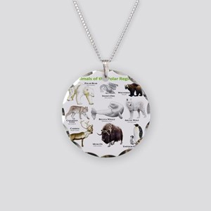 Animals of the Polar Regions Necklace Circle Charm