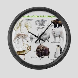 Animals of the Polar Regions Large Wall Clock