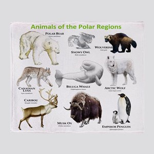 Animals of the Polar Regions Throw Blanket