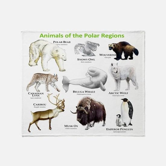 Animals of the Polar Regions Throw Blanket