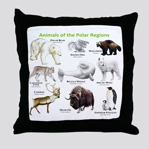 Animals of the Polar Regions Throw Pillow
