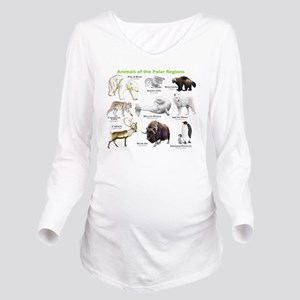 Animals of the Polar Long Sleeve Maternity T-Shirt