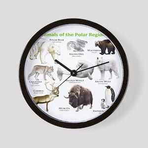 Animals of the Polar Regions Wall Clock